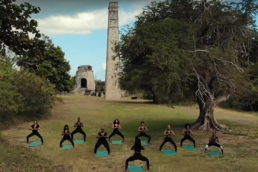 black women doing yoga, st. croix, noir wellness spa video screen shot